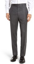 JB Britches Men's Torino Flat Front Solid Wool Trousers