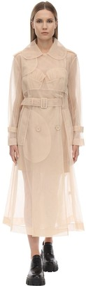 Simone Rocha Classic Sheer Tulle Trench Coat