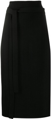 Jil Sander Belted Knit Pencil Skirt