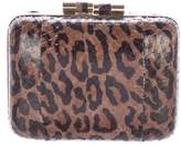 Brian Atwood Printed Snakeskin Taylor Clutch