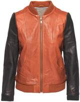 Chaser Blocked Leather Bomber