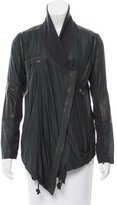 Yigal Azrouel Leather-Trimmed Drawstring Jacket