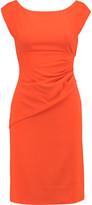 Diane von Furstenberg Jori Gathered Stretch-Twill Mini Dress