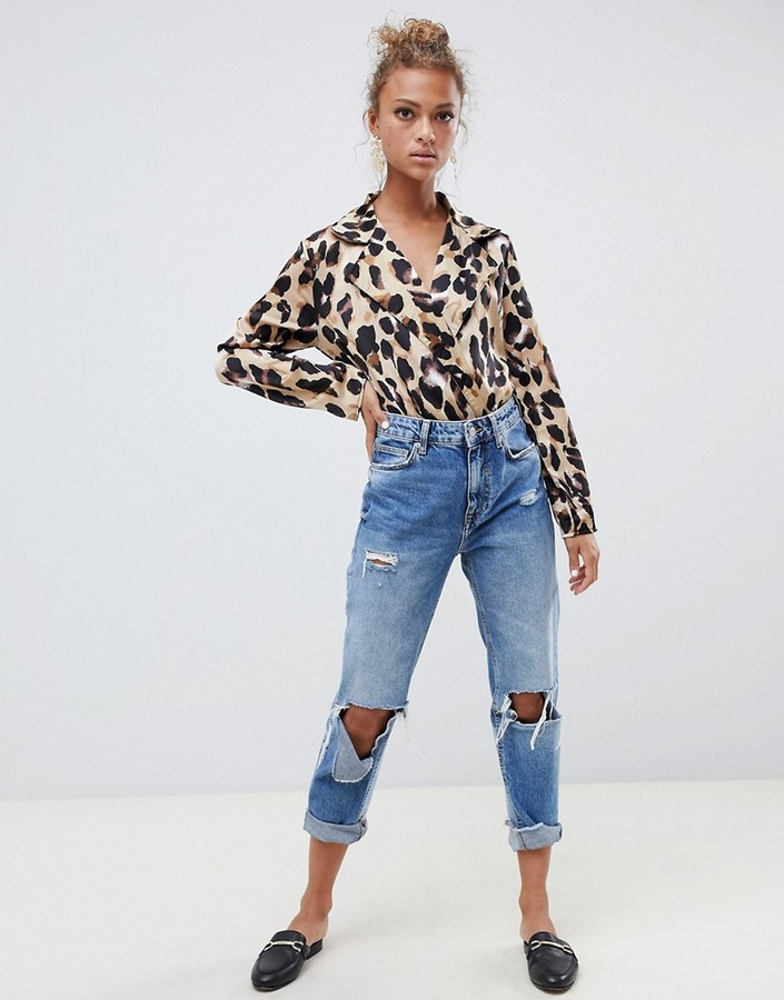 Thumbnail for your product : Parisian leopard print body
