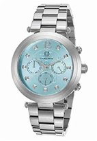 Cabochon Women's 'Papillon' Quartz Stainless Steel Watch, Color:Silver-Toned (Model: 10263-25)