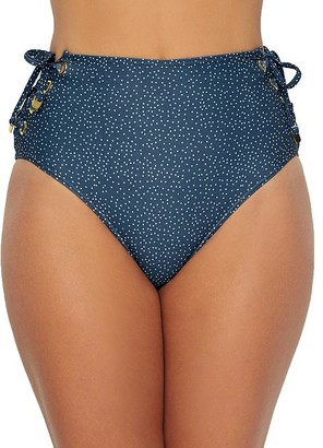 Azura Astral Eyelet High-Waist Bikini Bottom