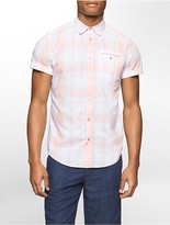 Calvin Klein Slim Fit Summer Plaid Short Sleeve Shirt