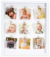 Pearhead 9-Photo 3.25-Inch Clothespin Collage Frame in White
