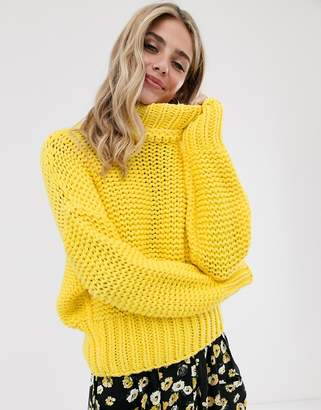 Free People my only sunshine chunky knit jumper-Yellow