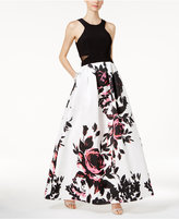 Xscape Evenings Floral-Print Ball Gown
