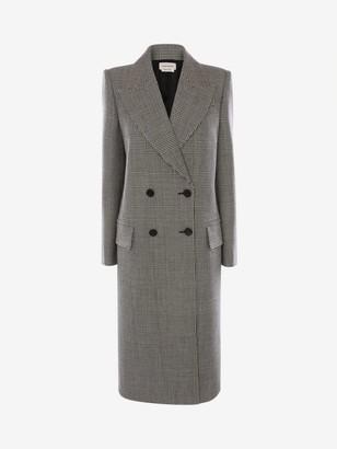 Alexander McQueen Prince of Wales Oversized Coat
