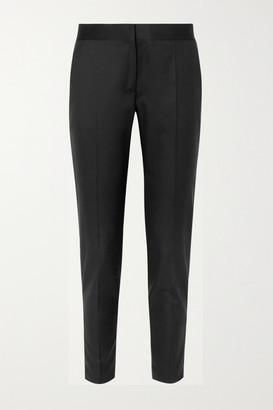 Stella McCartney Vivian Zip-detailed Wool-twill Straight-leg Pants - Black