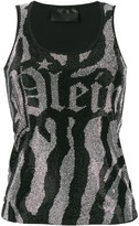 Philipp Plein logo printed tank top