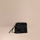 Burberry Zip-top Technical Nylon Pouch, Black