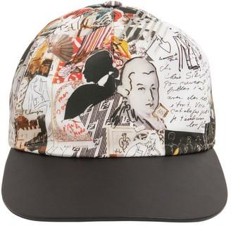 Fendi Karl Printed Nylon Baseball Hat