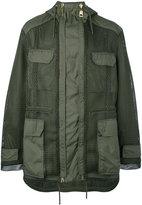 Les Hommes mesh overlay coat - men - Polyester/Cotton - 46