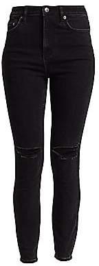 Ksubi Women's Hell Cat Hi-Rise Distressed Skinny Jeans