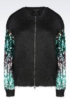 Emporio Armani Runway Cardigan With Sequins