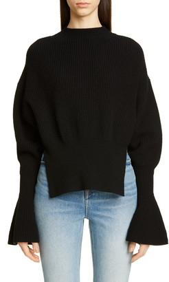 Alexander Wang Split Hem Wool & Cashmere Blend Sweater
