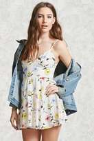 Forever 21 Floral Mini Cami Dress