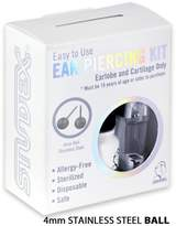 Studex Personal at Home Ear Piercing Kit w/Gun & 4mm Stainless Steel Ball Earrings