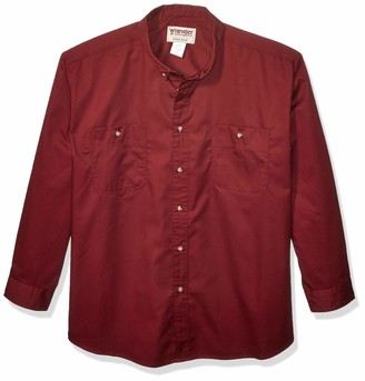 Wrangler Men's Big-Tall Rugged Wear Wrinkle Resist Solid Shirt