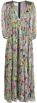 Giamba Empire-Waist Floral-Print Dress