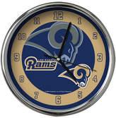 Memory Company Los Angeles Rams Chrome Clock Ii