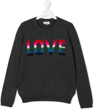 Zadig & Voltaire Kids TEEN love knitted sweater