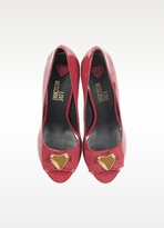 Moschino Red Patent Leather Platform Pump