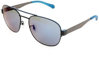 HUGO BOSS Mens Sunglasses Matt Black Blue Ruthenium