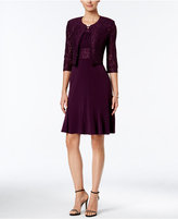 Jessica Howard Sequined Floral Lace Dress and Jacket