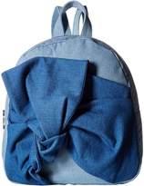 Stella McCartney Blair Denim Backpack w/ Bow Backpack Bags