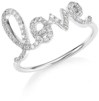 Sydney Evan 14K White Gold & Diamond Large Love Ring
