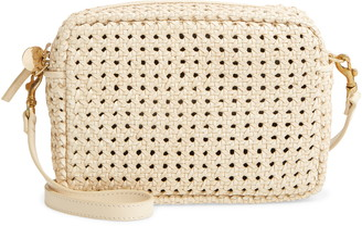 Clare Vivier Midi Sac Woven Leather Crossbody Bag
