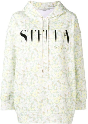 Stella McCartney Floral Print Logo Hoodie