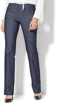 New York & Co. 7th Avenue Design Studio - Modern - Leaner Fit - Straight-Leg Pant - Grand Sapphire - Petite