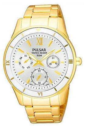 Pulsar Womens Quartz Watch Analogue Display and Stainless Steel Strap PP6068X1
