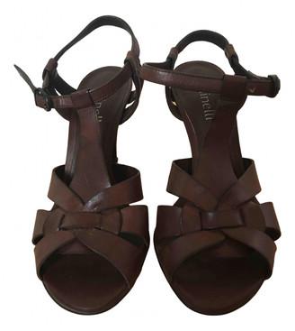 Minelli Brown Leather Heels