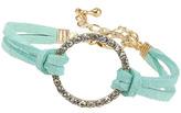 Topshop Green suede circle bracelet