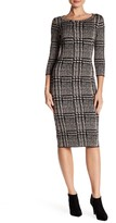 Taylor Houndstooth Sweater Dress