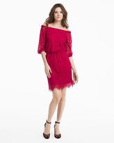 White House Black Market Off-The-Shoulder Lace Boho Dress