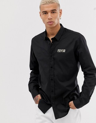 Versace shirt with gold logo-Black