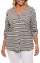 Yarra Trail Woman Stripe Cardigan