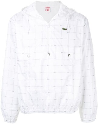 Lacoste reflective grid jacket
