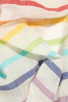 Rose & Rose St Paul striped cotton-blend scarf