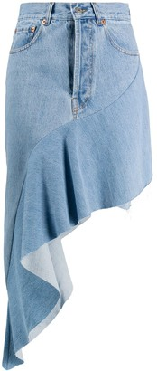 Forte Dei Marmi Couture Asymmetric Denim Skirt