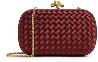 Bottega Veneta Silk Chain Knot Clutch Bag