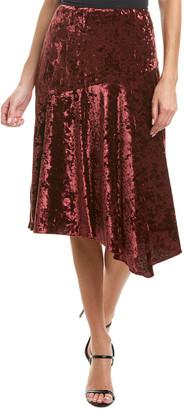 Nanette Lepore Silk-Blend Midi Skirt
