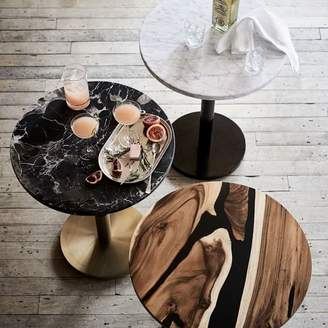 west elm Black Marble Round Bistro Table - Small